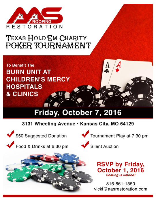 Poker Tournament For Children S Mercy Aas Restoration